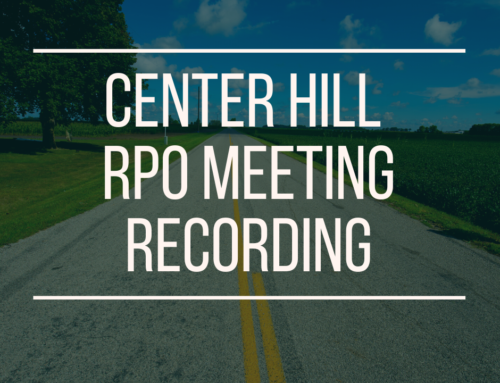 Center Hill RPO Meeting – May 20, 2021