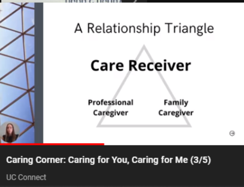 Caring Corner: Caring for You, Caring for Me (3/5)